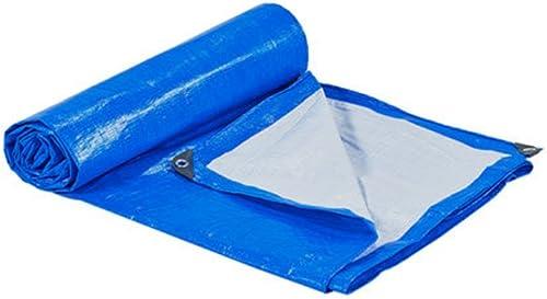 ZfgG Feuille de bache Bleue Blanche résistante imperméable à la bache - Couverture de qualité supérieure Faite de 170 g mètre carré (Taille   5  6m)