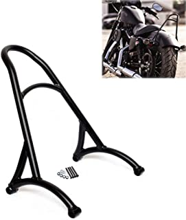 AQIMY Black Motorcycle Short Passenger Sissy Bar Backrest for Harley Sportster Iron XL 883 1200 48 2004-2017 Universal