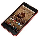 Konrow - Smartphone Libre 3G+ (Pantalla: 6 Pulgadas, 8 GB, Doble Micro-SIM, Android), Color Rojo