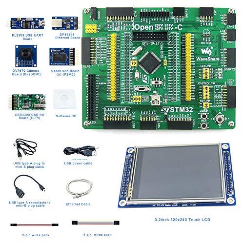 Designed for The STM32F407V Series, Open Source Electronic Hardware STM32 Development Kit, Features The STM32F407VET6/STM32F407VGT6 MCU, Cortex-M4 32-Bit RISC, 407V Mother Board+407V MCU Core Board.