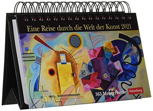Eine Reise durch die Welt der Kunst Premiumkalender 2021 - Tagesabreißkalender zum Aufstellen - Tischkalender mit den schönsten Gemälden aus den ... - Format 23 x 17 cm: 365 Meisterwerke.