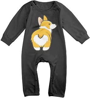 Corgi Butt Newborn Babys Long Sleeve Baby Climbing Clothes Black