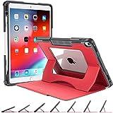 OCYCLONE Hülle für iPad Air 3 2019 10.5 Zoll & iPad Pro 10.5 2017, Stoßfest Schutzhülle mit Apple Pencil Halter, Multi-Winkel Magnetischer Ständer, Auto Schlaf-/Aufwachfunktion, Rot
