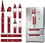 Juhenon Christmas Decorations Gnomes Refrigerator Handle Covers Set of 8PCS Christmas Kitchen Decor Appliance Handle Covers-Microwave Oven Dishwasher Fridge Door Handle Covers for Christmas Holiday