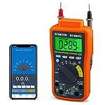 Bluetooth APP Digital Multimeter - BTMETER BT-90EPD Auto Ranging Multi-tester 4000 Counts Data Logging on Mobile Phone for AC/DC Voltage Current Resistance Temperature