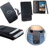 K-S-Trade® Gürtel Tasche Holster Für HTC One M9 (Prime Camera Edition) Brusttasche Brustbeutel Schutz Hülle Smartphone Hülle Handy Schwarz Travel Bag Travel-Hülle Vertikal