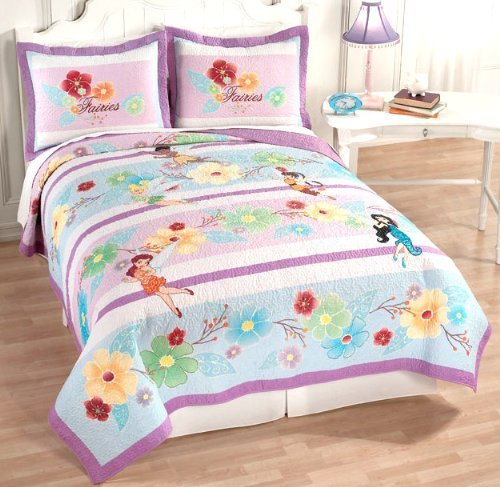 floral fairy tinkerbell and friends bedding