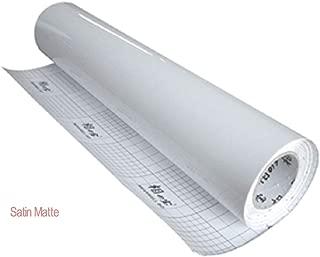 Satin Matte 25 x 180 Inch 0.7 x 5 Yards 3 Mil Cold Laminating Film Sheet UV Luster Vinyl for Laminator School Film Lamination