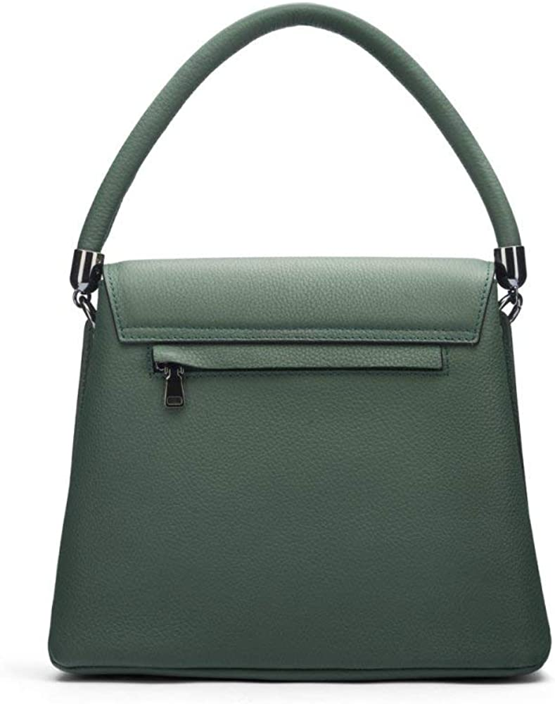 SageBrown Amy Flap Over Handbag Green