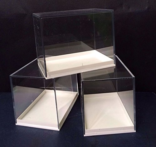 Große Schauboxen aus Plexiglas, für Proben, ideal für Fossilien, Meteoriten, Druckgießen, Münzen etc., 12 Stück