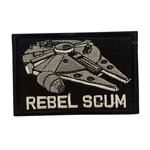 COBRA Tactical Solutions Rebel Scum Millennium Falcon Star Wars Military Besticktes Patch mit Klettverschluss für Airsoft Cosplay Paintball für Taktische Kleidung Rucksack
