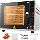 VBENLEM 110V Commercial Convection Oven 60L/2.12 Cu.ft Capacity 4500W Electric Toaster Oven...