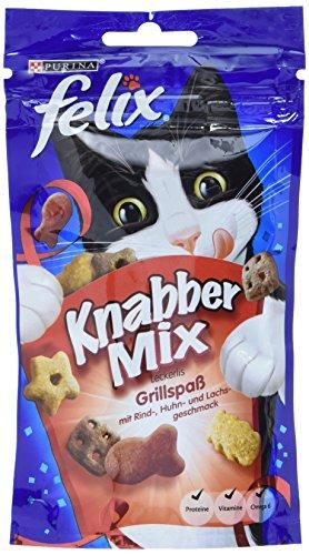 Felix Knabber Mix Katzensnack Grillspa, (1 x 60 g)