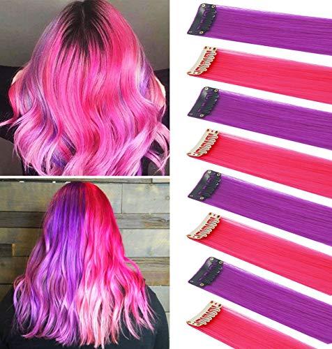 FYHTSD 8PCS 21''Pink & Purple Accesorios de moda Piezas de