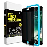 SmartDevil Anti-Spy Protector Pantalla de iPhone SE 2020/8/7,Cristal Templado iPhone SE 2020/8/7,Vidrio Templado con [Fácil de Instalar] [Anti-Peek] [Garantía de por Vida]para iPhone SE 2020/8/7