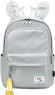Cute Rabbit Ears Elementary School Backpack Bookbag Women Laptop Rucksack for Girls
