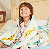 Hiseeme Toddler Weighted Blanket 5 Pounds for Kids | 36''x48'' | Quality Cotton | Best Heavy Blanket for Improved Sleep | Light Grey