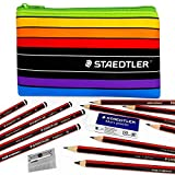 Staedtler - Tradition - Set de Dibujo - Grafito Lápices, Borrador, Sacapuntas, y Lápiz Funda [4H-6B]