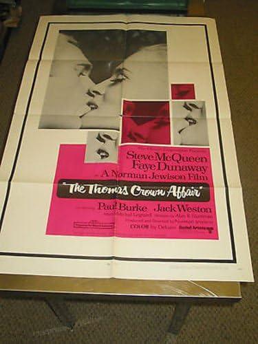 THE THOMAS CROWN Max 76% OFF AFFAIR ORIG. U.S. STEV SHEET ONE MOVIE Elegant POSTER