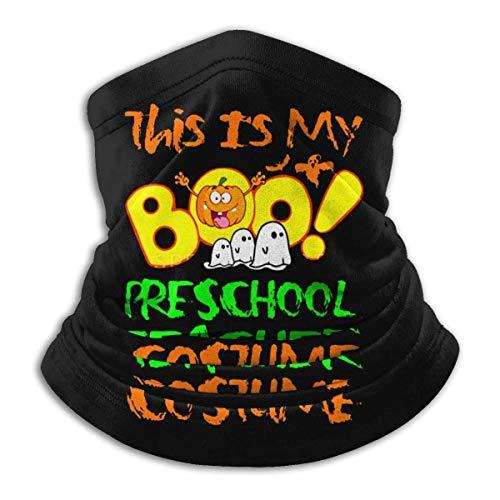 XCNGG Disfraz de maestro de preescolar Boo, calentador de cuello de microfibra de Halloween, diademas unisex, pañuelo, pañuelo, envoltura para la cabeza para deportes al aire libre para hombres y muje