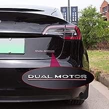 Fit Model 3 Dual Motor Decals 3D Car Rear Trunk Emblem Sticker Badge Decals Compatible Tesla Model 3 Decorative Accessories