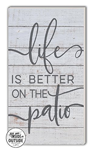 "Kindred Hearts Life is Better Patio Indoor/Outdoor Sign, 11"" x 20"", Multicolor"
