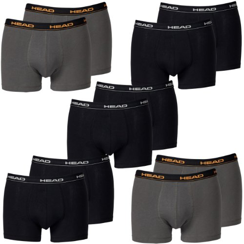 HEAD Men Boxershort 841001001 Basic Boxer 10er Pack 6x black 4x dark shadow