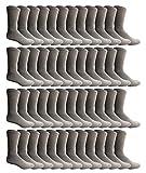 SOCKS'NBULK 60 Pairs Mens Wholesale Bulk Sports Crew Socks, Athletic Socks Case Pack Options (Gray), 13-10