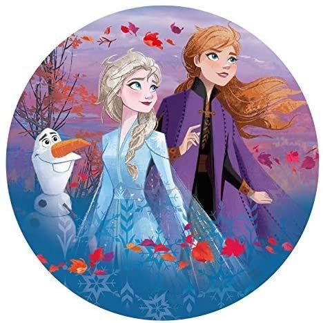 Dekora - Decoracion Tartas de Cumpleaños Infantiles en Disco de Oblea de Disney Frozen - 20 cm