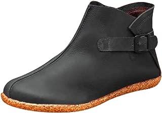 🌻Women's Wide Width Ankle Booties - Low Flat Heel Side Zipper Round Toe Suede Comfy Boots.