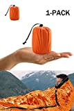 Premium Rettungsdecke Rettungsfolie Notfalldecke Notfall-Zelt Biwaksack Survival Schlafsack für Erste Hilfe,Notfall Outdoor Tube Zelt mit Ultraleicht hitzeabweisend Kälteschutz
