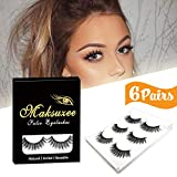 3D False Eyelashes, Maksuzee Long Lashes Extensions with Natural Thick...