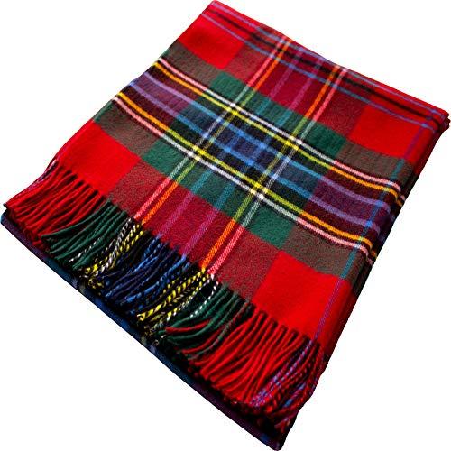 I Luv LTD 100% Lammwolle Karierte Warme und Weiche Decke Werfen Schottisch Tartan Maclean Duart Reisedecke Plaid Picknick Teppich