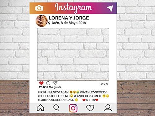 Photocall Instagram Personalizado Eventos o Celebraciones puntuales | Medidas 100x80cm | Ventanas Troqueladas | Photocall Divertido | Atrezzos.