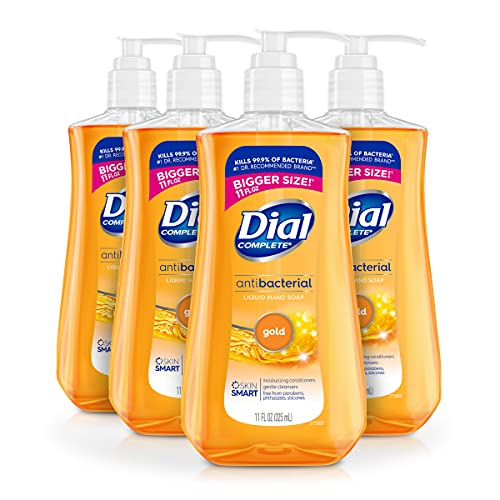 4-Ct 11-Oz Dial Antibacterial Liquid Hand Soap (Gold) $5.55 w/ S&S & More + Free Shipping w/ Prime or on $25+