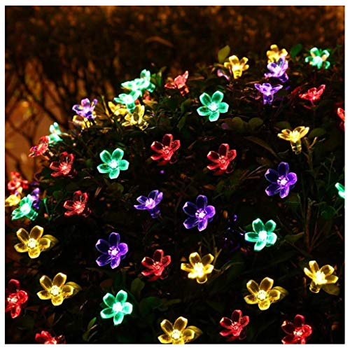 N / A 5m/20LED Peach Blossom Light Outdoor Solar Colorful Garden Light, Waterproof, Used for Garden Lawn and Courtyard Passage Decoration