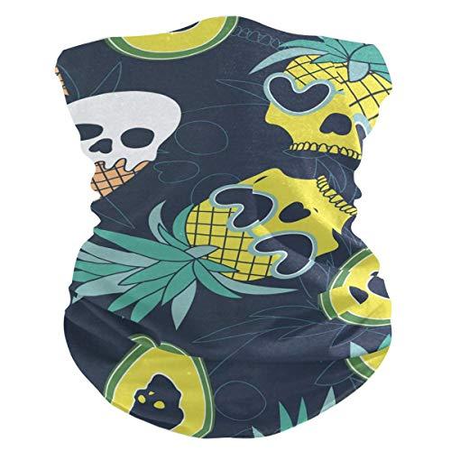 Niet van toepassing Magische Sjaal, Schedel Op Ananas Ijs En Avocado Hoofdbanden, Mode Outdoor Masker Voor Sporting Motorskiën