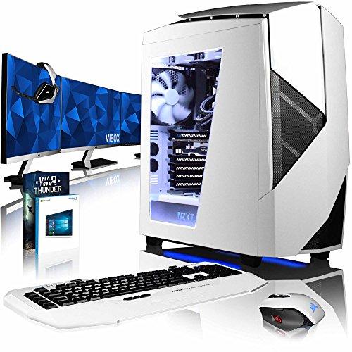 Vibox Rapture L760-185 Gaming-PC Computer mit Spiel Bundle, Win 10 Pro, 3x Triple 27 Zoll HD Monitor (4,6GHz Intel i7 6-Core, MSI Armor GeForce GTX 1060 Grafikkarte, 16Go DDR4 RAM, 240GB SSD, 3TB HDD)