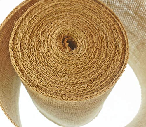 6 Inch Burlap Ribbon by the Roll. 10 Yards Jute Spool by Drency Ribbons