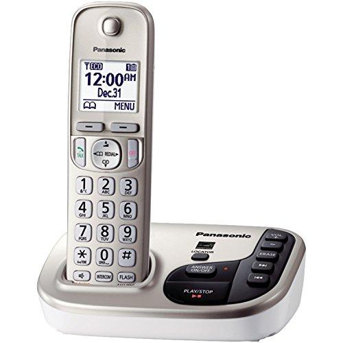 Panasonic KX-TGD223B dect 6.0 Cordless Phone System W/Answering Machine 3-Handset Landline Telephone