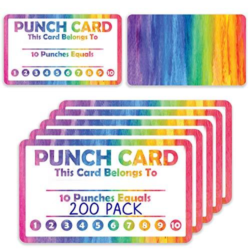 Paquete de 200 tarjetas de lealtad para el aula o los estudiantes de negocios, para profesores o negocios de mejor comportamiento...