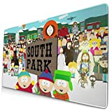 Sou-th Par-k Mouse Pad Rectangle Non-Slip Rubber Gaming/Working Geek Mousepad Comfortable Desk Mouse Pad 15.8x29.5 in