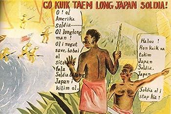 1943 WW2 WWii Japan Japanese Target Papua New Guinea Anti British America Army Soldier Battle Propaganda Postcard 00804