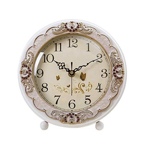 O&YQ Horloge de Table de Comptoir Horloge de Bureau Muette Horloge de Chevet en Bois de Personnalité Étudiante Vintage Décor Horloge de Table de Salon Elle S'Applique Aux Familles Aux Bureaux Etc.Éch