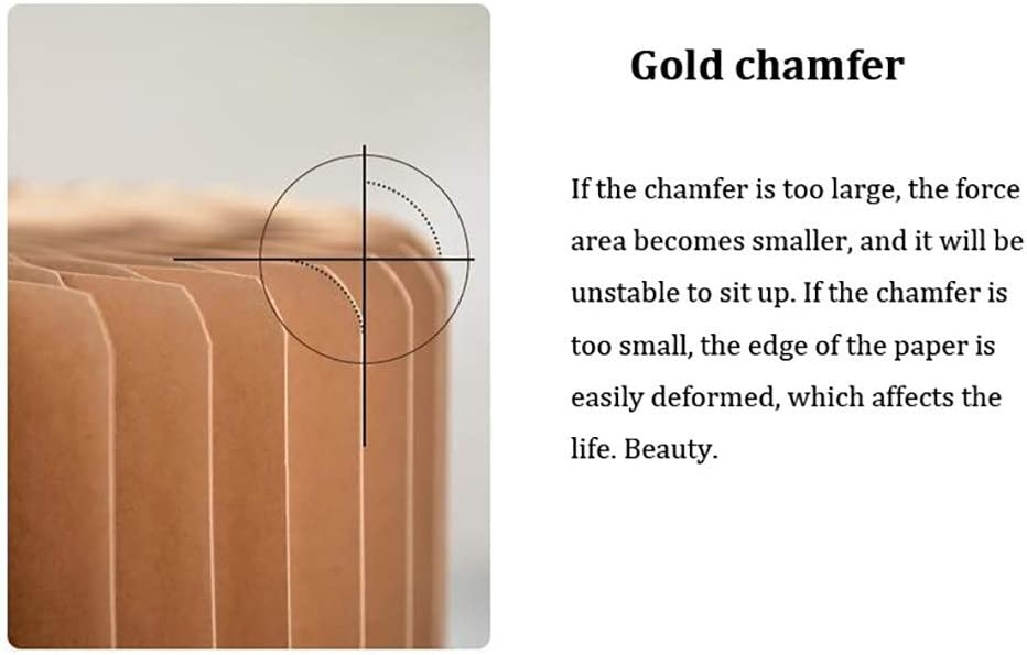 KUANDARGG Canapé Pliant en Papier Kraft - Chaise Ottomane Pliable avec Structure Hexagonale en Nid d'abeille d'une Capacité De Charge De 500 Kg, Red Brown