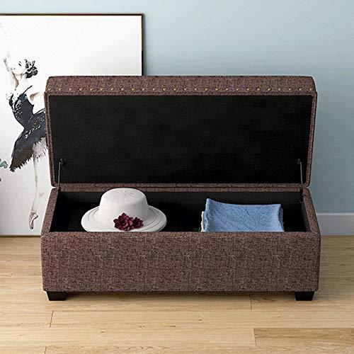 MEI XU taburete de almacenamiento, Nordic heces de almacenamiento de una tienda de ropa taburete reposapiés del asiento sofá de la sala de cama banco de heces final de almacenamiento de tela for cambi