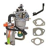 Fuerdi Dual Fuel Carburetor with Manual Choke LPG CNG Conversion KIT for Gasoline Generator 4.5-5.5KW GX390 188F Carburetor