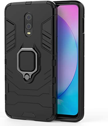 Valueactive Covers and Cases for OnePlus 7 Case Back Cover Rugged Armor TPU + PC Hybrid Kickstand Back Case/Cover with Ring Holder Designed for OnePlus 7