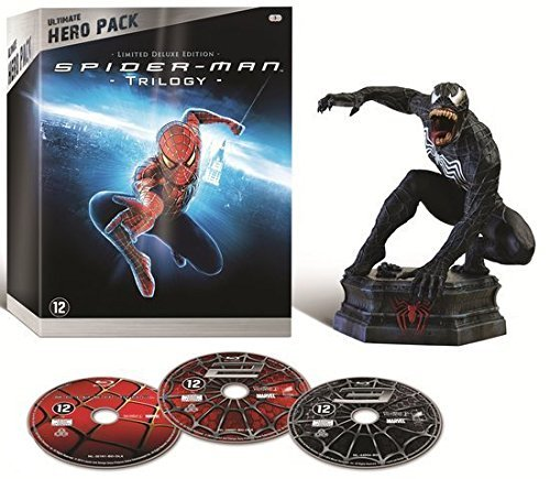Spider-Man Trilogy (Ultimate Hero Pack) - 3-Disc Box Set & Venom Figurine ( Spider-Man / Spider-Man 2 / Spider-Man 3 ) ( Spider-Man / Spider [ Origine Olandese, Nessuna Lingua Italiana ] (Blu-Ray)