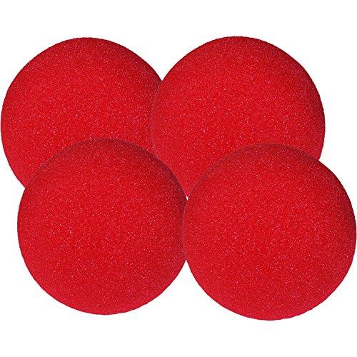 ProTriXX 4 rote Super Soft Spongeballs by Gosh, 5cm Durchmesser inkl. deutschsprachiger Anleitung mit Einer Basis Sponge Ball Routine von Its Magic Zaubershop, Schwammbälle, Zauberartikel